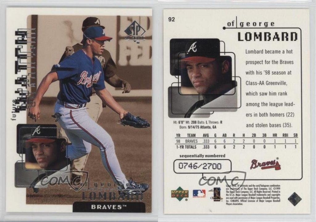 1999 Upper Deck George Lombard
